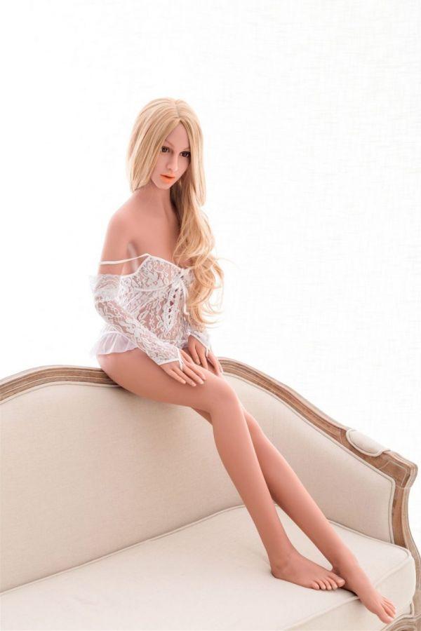 155cm 5ft1 Blonde Skinny Real Life TPE Sex Doll Sonya