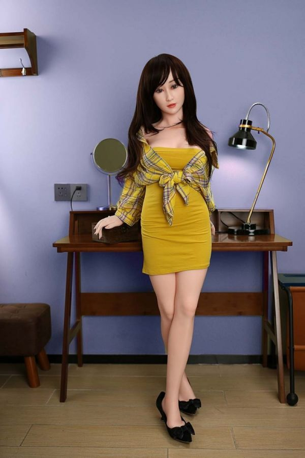 145cm 4ft9 Super Real Silicone Sex Doll Mature Lifelike Love Doll -Amelie