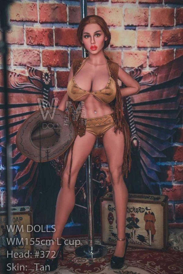 155cm 5ft1 Tan Skin Big Breasts Thick Thighs Sex Doll -Tresha