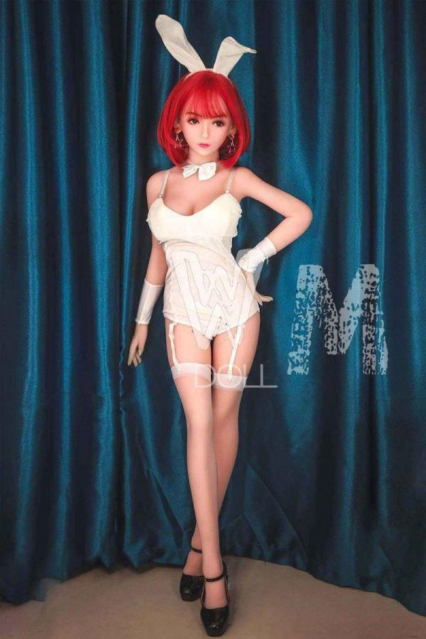 140cm 4ft7 Red Hair Bunny Girl Sex Doll -Derrick