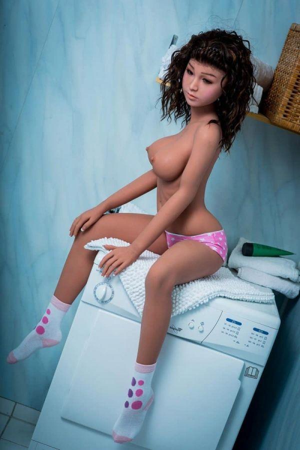 140cm 4ft7 Blonde Lifelike Sex Doll for Man Jany