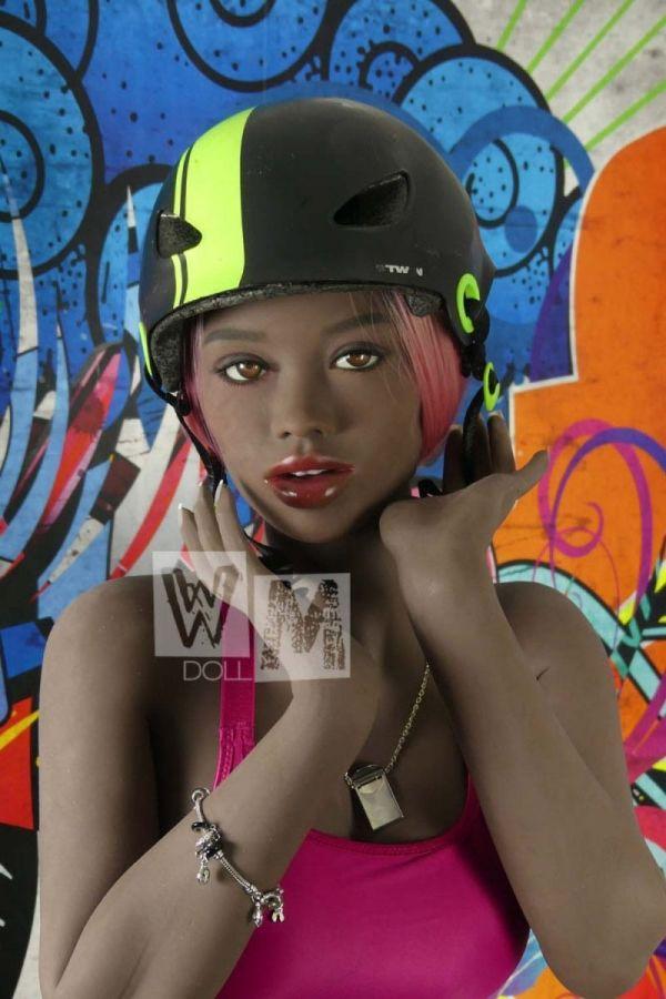 166cm 5ft5 Slim Black Sex Doll Super Sexy Ebony Love Doll -Undine