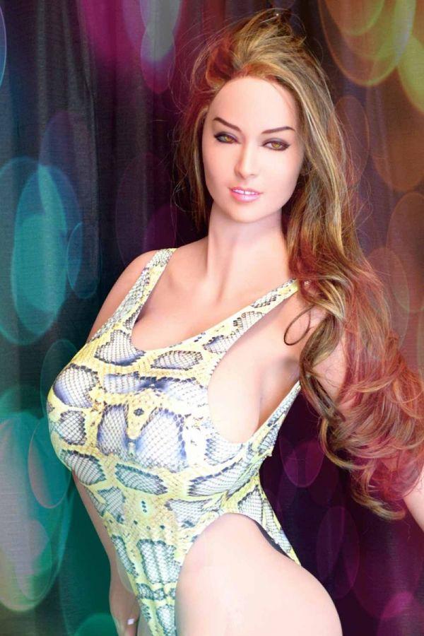 170cm 5ft7 Huge Tits Thin Waist American Curvy TPE Sex Doll -Geraldine