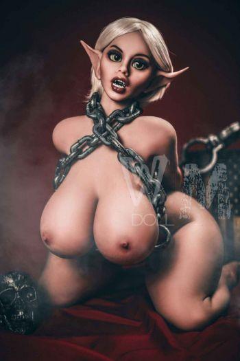 150cm 4ft11 WM Elf  TPE Sex Doll  with Big Breasts -Aubrey