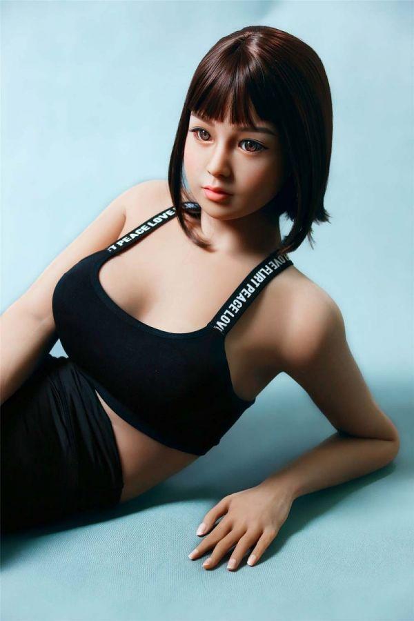 162cm 5ft4 Ultra Real Slim Sex Doll Yoga Girl Love Doll- Snowhite
