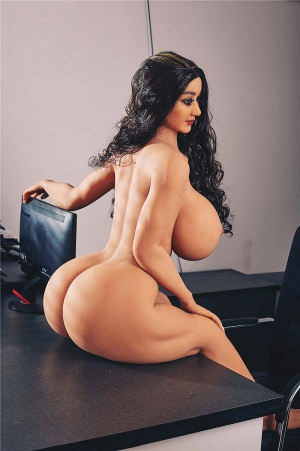140cm 4ft7 Huge Breasts Big Ass Fat Sex Doll for Man Alexa